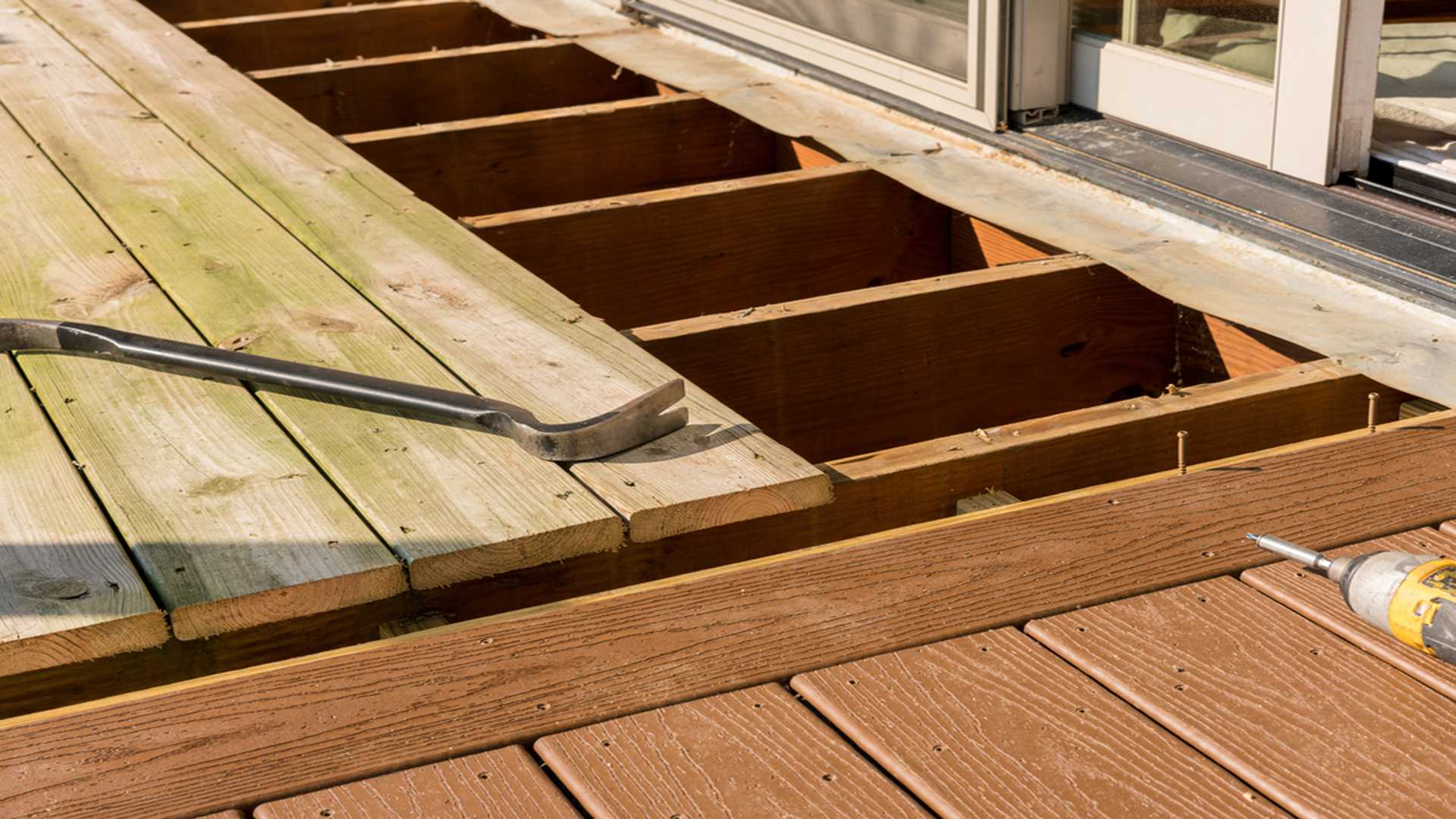 Replacing Old Wood On Deck Patio Deck Repair And Fence Repair Gutter Solutions and Home Improvements Pensacola FL 850 776 1782